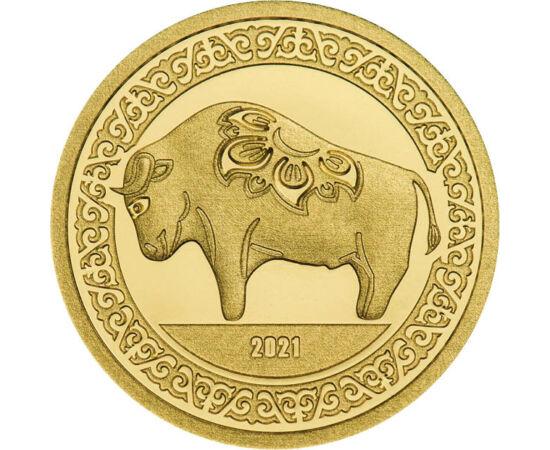 // 1000 tugrik, 999,9-es arany, Mongólia, 2021 // - 2021 a kínai horoszkóp szerint a bivaly éve lesz. A bivaly megbízható, erős, szorgalmas, erre az évre a törvény, a rend és a biztonság uralmát jósolja a kínai horoszkóp. A kínai horoszkóppal évről-évre m