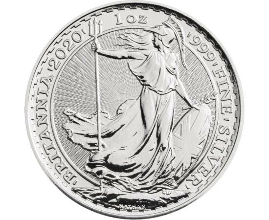 // 2 font, 999-es ezüst, Nagy-Britannia, 2020 // - Britannia immáron 2000 éve a brit sziget szimbóluma. A rómaiak jelölték először ezt a provinciát az istennő pajzsos, szigonyos alakjával. Modern változata 1997 óta a gyűjtemények elengedhetetlen darabja.