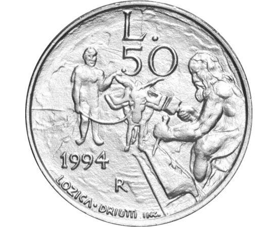 // 50 líra, San Marino, 1994 // - A világ egyik legkisebb országa San Marino. A törpeállam pénzérméi ritkaságuk miatt mindig keresettek. Az 1994-ben kibocsátott 50 lírán egy ősi mesterség, a kőfaragás került megjelenítésre, mely nélkül sem piramisok sem t
