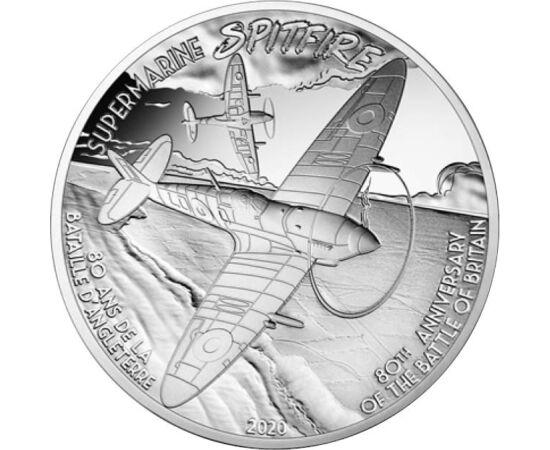 // 10 euró, 900-as ezüst, Franciaország, 2020 // - Az Angol Királyi Légierő (RAF) büszkesége a II. világháború egyik legjobb repülője, a Spitfire - jelentése: tűzhányó. A német légierőnek súlyos veszteséget okozva Anglia ezzel és a Hurricane repülővel nye