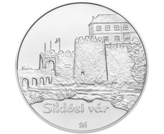 // 5000 forint, 925-ös ezüst, Magyar Köztársaság, 2008 // - A nagysikerű magyar várak sorozat 2008-as darabja a Siklósi várat ábrázolta. A XIII. században épült várat az évszázadok folyamán ostromolta Luxemburgi Zsigmond, Hunyadi János és I. Szulejmán is.