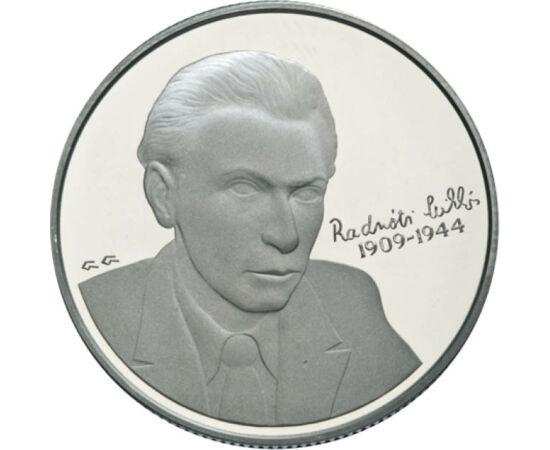 // 5000 forint, 925-ös ezüst, Magyar Köztársaság, 2009 // - Radnóti Miklós születésének 100. évfordulójára jelent meg ez az emlékérem 2009-ben. A modern magyar líra mesterének tartott költő csupán 35 évet élt. A munkaszolgálatban írt bori noteszben olyan