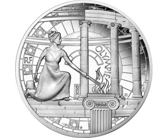 10 euró, Olimpiai láng,Ag,2020 Franciaország