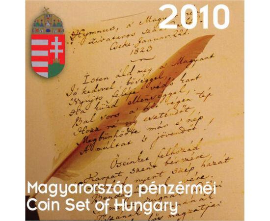// 5, 10, 20, 50, 100, 200 forint, Magyar Köztársaság, 2010 // - 2010-ben a díszcsomagolt forgalmi sorunk a Himnusz, Kölcsey és Erkel jegyében készült, hiszen hazánk 2010-ben ünnepelte a Himnusz zeneszerzőjének 200. születésnapját.