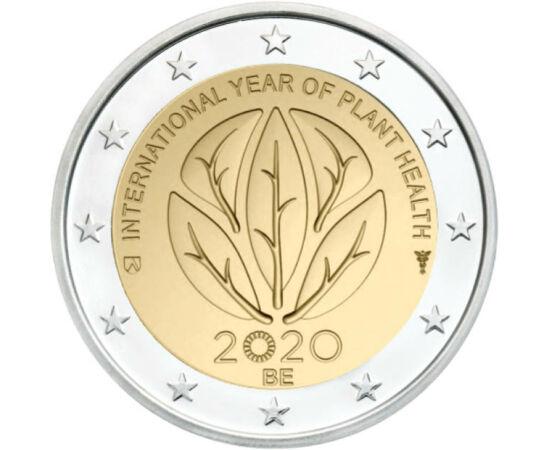 // 2 euró, Belgium, 2020 // - Az emberiség alapvető érdeke a növények védelme. 2020 a növényegészségügy nemzetközi éve. Ennek kapcsán Belgium különleges kibocsátású 2 eurót jelentetett meg, melyen a nemzetközi növényegészségügyi év hivatalos logója láthat