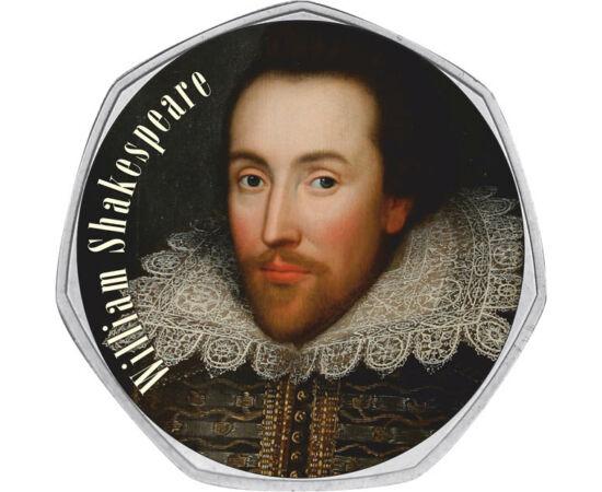 50 penny, William Shakespeare,2011 Nagy-Britannia