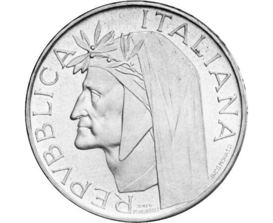 // 500 líra, 835-ös ezüst, Olaszország, 1965 // - Az olasz, sőt a világirodalom egyik legnagyobb alakjának, Dante Alighieri születésének 700. évfordulójáról emlékezett meg ez az olasz ezüst érme. A már 55 éves érme előlapján a költő, hátlapján az Isteni s