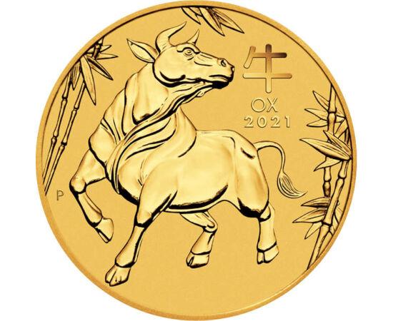 // 15 dollár, 999,9-es arany, Ausztrália, 2021 // - Lassan búcsút veszünk a patkány évétől, 2021-ben a bivaly fogja uralni sorsunkat a kínai horoszkóp szerint. A népszerű témában Ausztrália kibocsátásában megjelent aranypénz rendet és biztonságot ígér a k