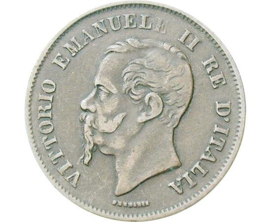 // 5 centesimi, Olaszország, 1861-1867 // - Garibaldi az európai forradalmak után kezdte meg függetlenségi harcát, amely Olaszország egyesüléséhez vezetett. Az első olasz király II. Viktor Emánuel lett, így az ő pénzei az első valóban olasz érmék!