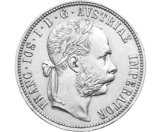 // 1 florin, 900-as ezüst, Osztrák-Magyar Monarchia, 1872-1892 // - A császár 1857-ben egy kisebb pénzügyi reformot vezetett be, ésszerűvé téve a krajcár váltási egységét. Az új rendszer egyik legszebb érméje volt ez a florin, amely 1872-től egészen 1892-