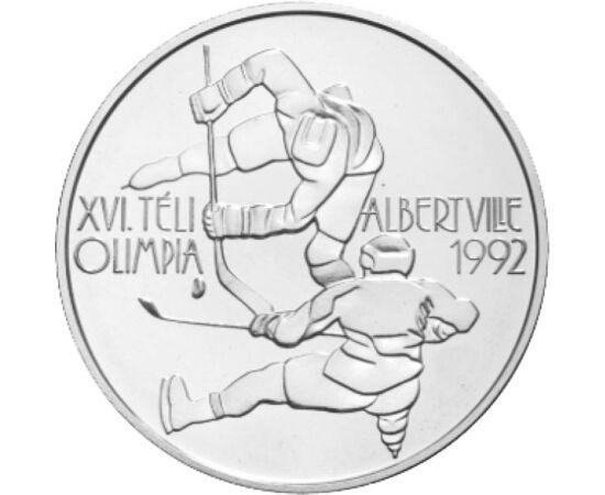 // 500 forint, 900-as ezüst, Magyar Köztársaság, 1989 // - Az MNB által kiadott, 30 éves ezüst 500 forint az Albertville-i téli olimpia emlékét őrzi. Az 1992-es téli és nyári olimpia volt az első, melyen a volt Szovjetúnió már nem vetett árnyékot a rendsz