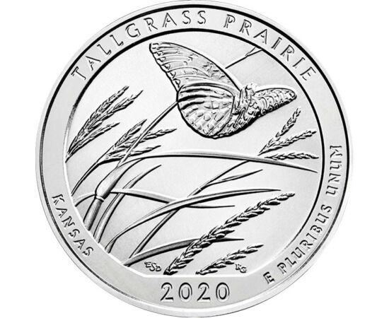 // 25 cent, USA, 2020 // - A Tallgrass, azaz a Magasfű Préri Nemzeti Parkot, Kansas nyolc csodája közé sorolták. A rezervátumot a prérividék egyik utolsó bástyájának tartják, mivel az észak-amerikai kontinenst borító magasfű prériből manapság csak 4% mar