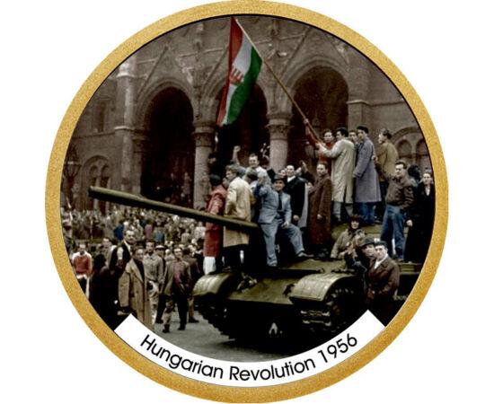 // 1 dollár, USA, 2007-2016 // - Az 1956-os forradalom és szabadságharc a 20. századi magyar történelem egyik legmeghatározóbb eseménye volt. A hazánkban történtek az egész világot megrázták. 1956 hőseiről emlékezik meg ez az 1 dolláros érme.