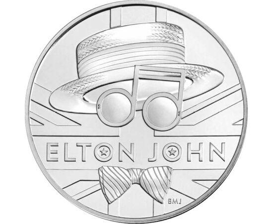 // 5 font, Nagy-Britannia, 2020 // - A híres brit művészeket, hazájukban, királyoknak kijáró tisztelet övezi. Elton John hatszoros Grammy-díjas és kétszeres Oscar-díjas brit zeneszerző és énekes tiszteletére is emlékérmét adott ki a brit Királyi Pénzverde