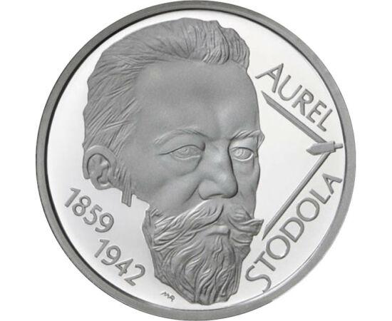 // 10 euró, 900-as ezüst, Szlovákia, 2009 // - Szlovákia 2009. januárban vezette be az eurót, a korábbi szlovák korona helyett, amely csak 1993-ban született, Csehszlovákia szétválása után. Az első szlovák emlék euró Stodola Aurélről, a 150 éve Liptószent