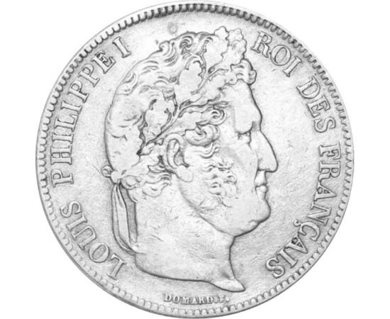 // 5 frank, 900-as ezüst, Franciaország, 1831-1848 // - Ez az 5 korona méretű és értékű pénz Lajos Fülöp francia király pénze volt. Az 1848-as európai forradalmak a francia királyt elsöpörték, míg kortársa, Ferenc József épp ennek köszönhetően került az o