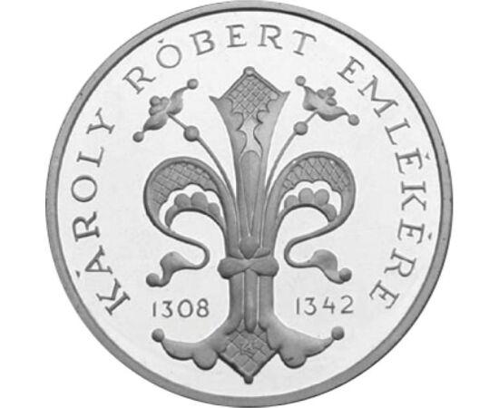 // 500 forint, 900-as ezüst, Magyar Köztársaság, 1992 // - Az Anjou-házi királyaink méltó utódai lettek az Árpád-háznak. Az Anjou-liliom díszítette az első magyar aranypénzt is, melyet Károly Róbert veretett. Épp ezért ez a királyi jelkép díszíti az MNB 1