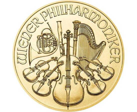 // 10 euró, 999,9-es arany, Ausztria, 2021 // -   A Bécsi Filharmonikusok, Ausztria leghíresebb zenekara 1842-ben alakult. 1939 óta tartanak újévi koncerteket, mely mára az egyik leghíresebb és legjobban várt újévi eseménnyé vált minden évben, és melyet M