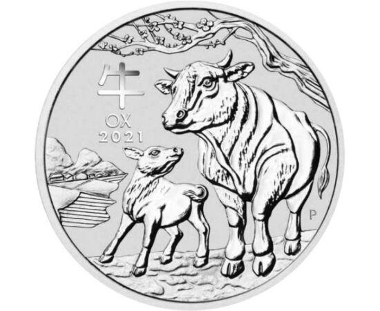 // 1 dollár, 999,9-es ezüst, Ausztrália, 2021 // - Ausztrália 1 uncia színezüst érmét jelentett meg a bivaly évére, mely népszerű a gyűjtők körében.