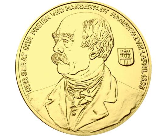 // 10 dukát utánveret, Német Birodalom, 1895 // - Otto von Bismarck a német birodalom legkiemelkedőbb államférfija, Poroszország miniszterelnöke, majd a Német Császárság kancellárja volt. Vezetésével a Német Császárság katonailag és gazdaságilag egységes,