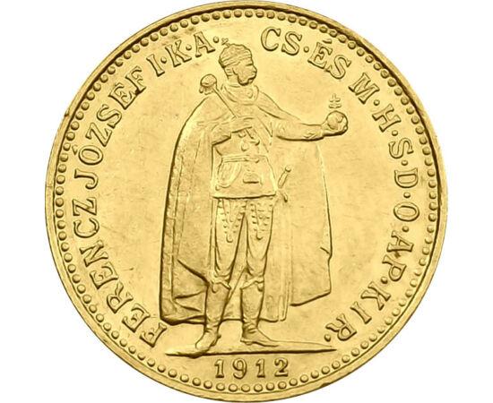 // 10 korona, 900-as arany, Osztrák–Magyar Monarchia, 1892-1915 // - Ferenc József eredeti, 100 éves arany verete egyszerre szép és értékálló. Megjelenése óta, immár egy évszázada a magyar polgárság kedvelt aranytartaléka. Nemzedékek óta testesíti meg a c