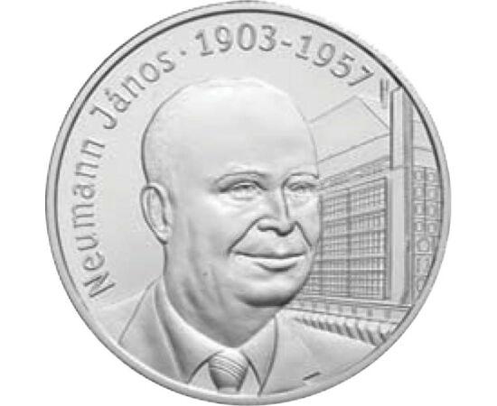 // 5000 forint, 925-ös ezüst, Magyar Köztársaság, 2003 // - Neumann János korszakalkotó műve a kvantummechanika matematikai megalapozása, de az életünket átszövő számítógépek is immár 75 éve a Neumann-elv szerint működnek.  Születésének 100. évfordulóját