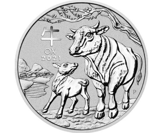 // 2 dollár, 999,9-es ezüst, Ausztrália, 2021 // - A hamarosan beköszöntő kínai holdújév ezúttal a bivaly évét hozza. Jónéhány éve nemcsak a keleti országban, hanem az egész világon izgalommal várják, milyen jövőt tartogat nekünk az új kínai horoszkóp.