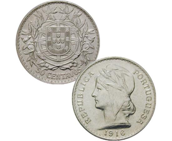 50 centavo, Frígiaisapkás nő, Ag Portugália