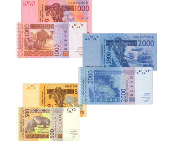 500, 1000, 2000 frank, 2004-2012 Nyugat-Afrikai államok