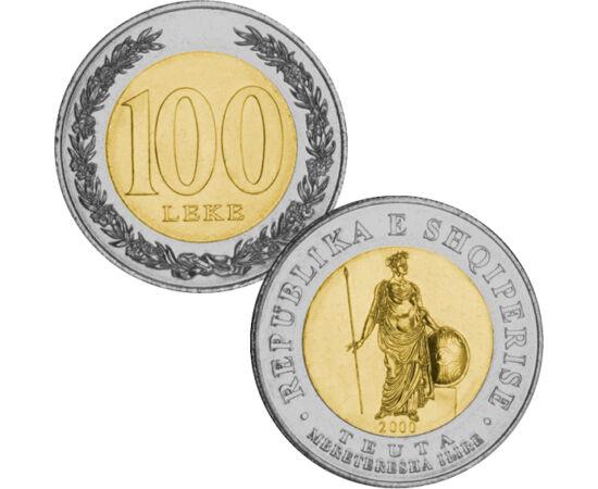 // 100 lek, Albánia, 2000 // - Az alábbi bimetál érmét kibocsátó ország az elmúlt 200 évben vált függetlenné. Több országgal együtt elszántan küzdött az önállóságért és a szabadságért. Az érme a már elnyert szabadság jelképe, mivel az ország lerázta a gya