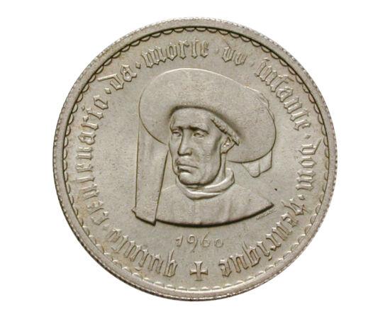 // 5 escudo, 650-es ezüst, Portugália, 1960 // - Tengerész Henrik királyi herceg sorra szervezte a tengeri expedíciókat. Ennek köszönhetően fedezték fel Afrika nyugati partját, az óceáni szigeteket, és lett Portugália tengeri hatalom. Halálának 500. évfor