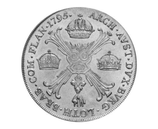// 1 tallér, 873-as ezüst, Ausztria, 1792-1798 // - A tallérok méretük és ritkaságuk miatt a gyűjtemények legértékesebb darabjai. Közöttük is különlegesek a koronás tallérok, melyeken nem a címerrel, hanem az uralt országok koronáival jelezték az uralkodó