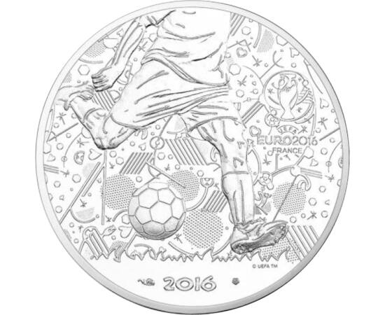 10 euró, Foci EB, Ag 333, 2016 Franciaország