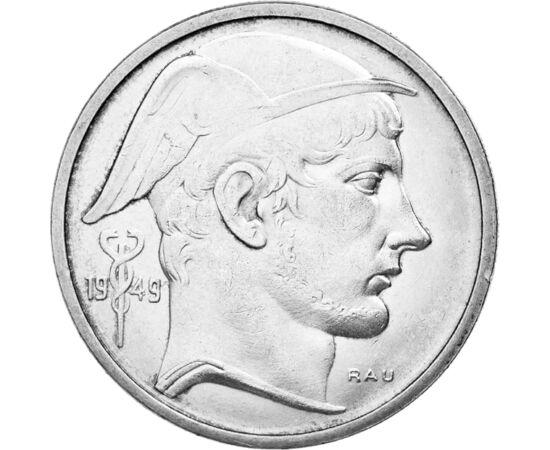 // 20 frank, 835-ös ezüst, Belgium, 1949-1955 // - A belga király, III. Lipót nem lépett fel határozottan a német megszállókkal szemben, ezért a háború után olyannyira népszerűtlen volt, hogy 1950-ben népszavazást kellett tartani a királyságról. Amíg a ki