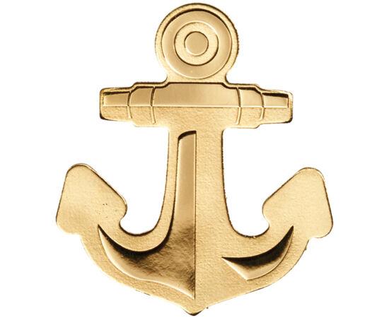 // 1 dollár, 999,9-es arany, Palau, ND // - A kis szigetország, Palau ismételten meglepte a világot különleges formájú érméjével. A felfedező tengerjáró hajók horgonyát mintázó érme az ismeretlen vizekre merészkedő, a világ felfedezését vállaló merészhajó