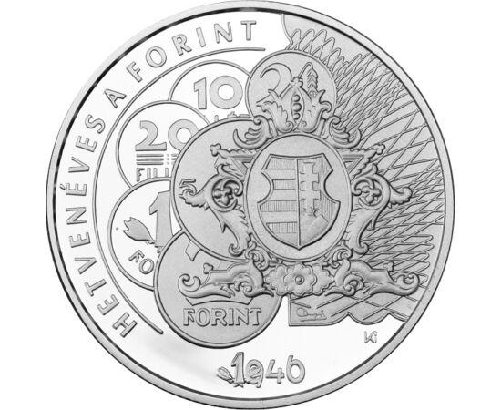 // 10000 forint, 925-ös ezüst, Magyarország, 2016 // - 2016. augusztus 1-én lett szépkorú a forint. A Magyar Nemzeti Bank ezen emberöltőnyi idő alatt számos gyönyörű emlékpénzt bocsátott ki aranyból, ezüstből. A kerek évfordulót is méltó módon ünnepelte e