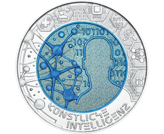 // 25 euró, 900-as ezüst, Ausztria, 2019 // - A mesterséges intelligencia a XXI. század nagy kísérlete. A neurális hálók alapján felépített rendszerek már ma is nagy szolgálatot tesznek számos területen. De mi lesz, ha egyszer már nem lesz szükségük ránk