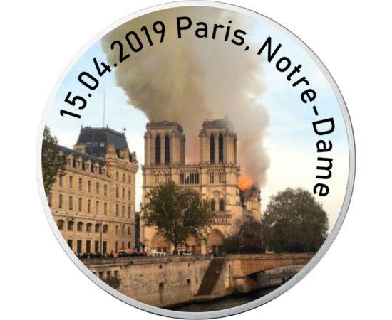 // 10 euró, 333-as ezüst, Franciaország, 2016 // - 2019. április 15-én délután kigyulladt, és órákon át égett Párizs egyik jelképe, a Notre-Dame székesegyház. A lángokat csak több órás erőfeszítéssel sikerült megfékezni, a tető teljesen kiégett. De megmen