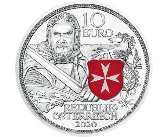 // 10 euró, 925-ös ezüst, Ausztria, 2020 // - A Szent János lovagrend, vagy ahogy jobban ismerjük a Máltai lovagrend a jeruzsálemi királyság legkomolyabb haderejének számított a templomos lovagrend mellett. Az 1099-ben alapított rend fő célja a Szentföldö