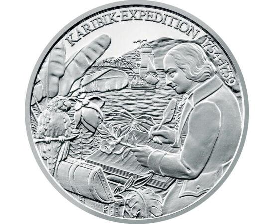 // 20 euró, 900-as ezüst, Ausztria, 2011 // - Nikolaus Joseph von Jacquin osztrák orvos, botanikus, ásványkutató volt, igazi polihisztor. Mária Terézia megbízásából egy karibi expedíciót vezetett, hogy különleges növényekkel hozza létre a máig létező schö