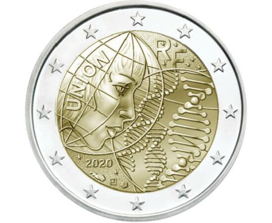 // 2 euró, Franciaország, 2020 // - A mostani helyzetben minden eddiginél nagyobb figyelem jut az egészségügynek. A világ hálás szívvel, követi az orvosok és nővérek helytállását, és türelmetlenül várja a kutatók újabb csodáját, mely segít a COVID-19 járv