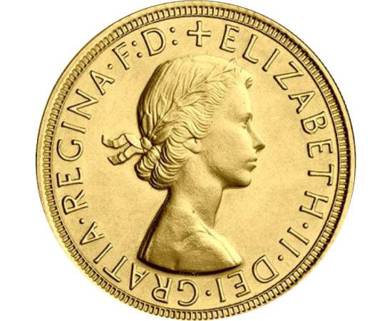 1 sov., arany, II.Erzsébet, 1957-68 Nagy-Britannia
