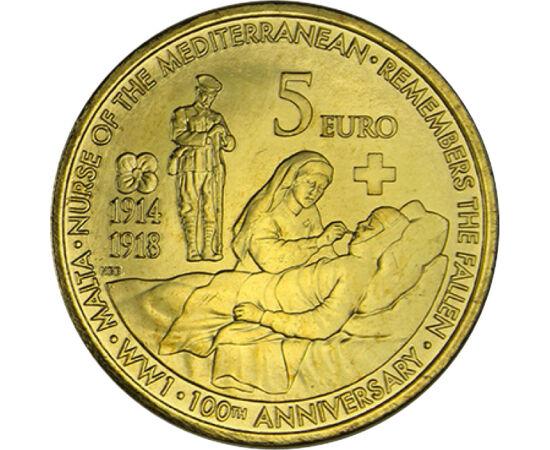 5 euró, I. világháború áldozatai,2014 Málta