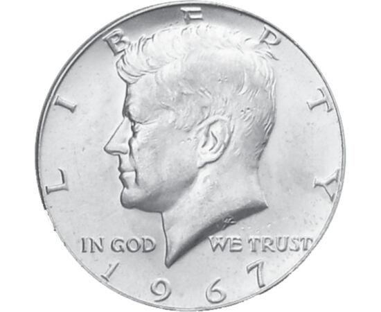 1/2 $, Kennedy, ezüst, 1965-70 USA