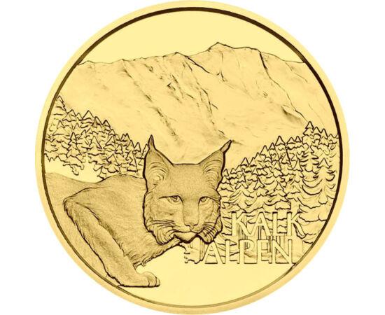 // 50 euró, 986-os arany, Ausztria, 2021 // - A gyönyörű arany emlékpénz az osztrák alpok egyik legszebb nemzeti parkját örökíti meg. A Kalkalpen Nemzeti Parkban harminc erdőrezervátum létezik, ahol számos ritka növény és állatfaj él, melyek közül az oszt