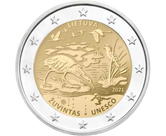 2 euró, Mocsaras élővilág,2021 Litvánia