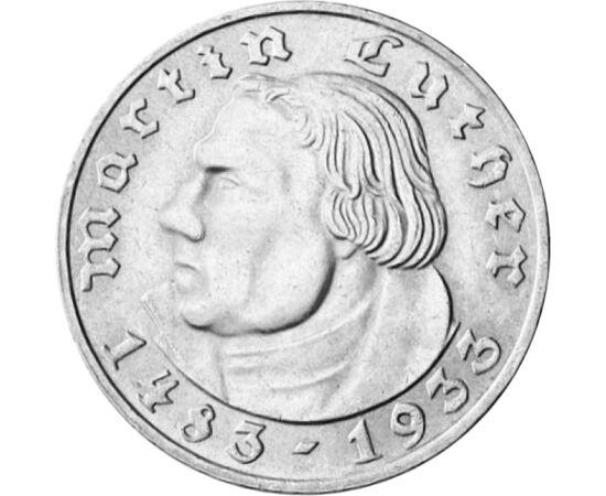 2 márka, Luther Márton, ez, 1933 Németország