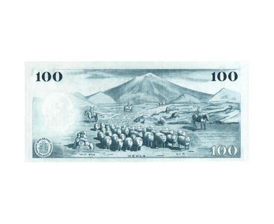 A Pokol Kapuja bankjegyen, 100 korona, Izland, 1961