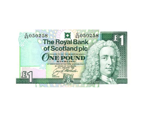 Bankalapító lord a skót bankjegyen, 1 font sterling, Skócia, 1992-1997