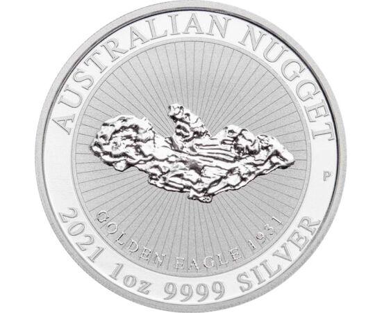 Gigantikus aranyrög, 1 dollár, ezüst, Ausztrália, 2021